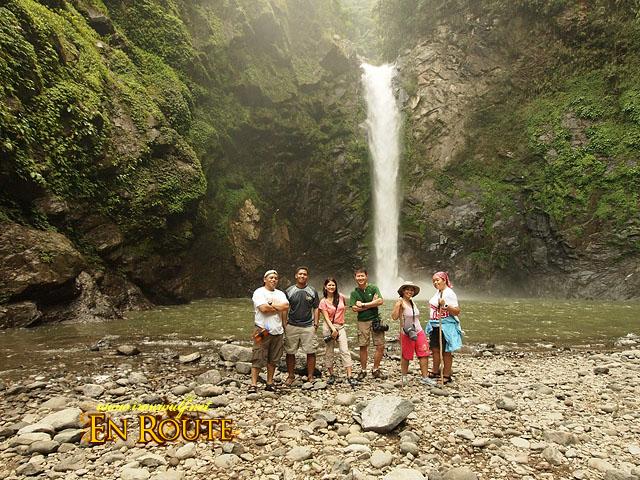 The group at Tappia Falls, Batad
