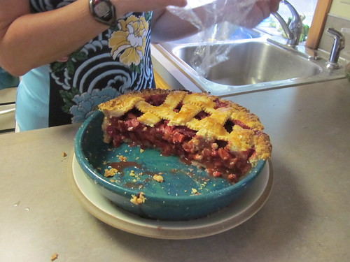 That was a whole pie before Susie, Jeff, and I got started