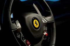 Ferrari 458 Italia - Steering wheel (Richard Melick) Tags: longexposure cars canon eos 50mm highresolution italia f14 ferrari xs digitalrebel motorsports 458 detailshots tightframed rmelick