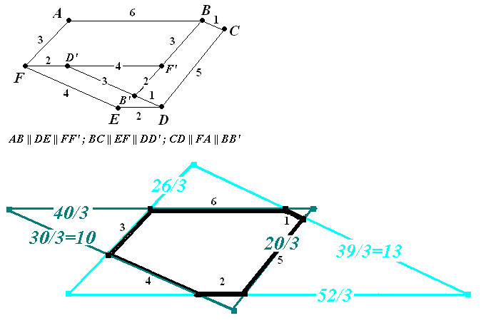 Hexagon with parallel opposite sides? | Yahoo Answers