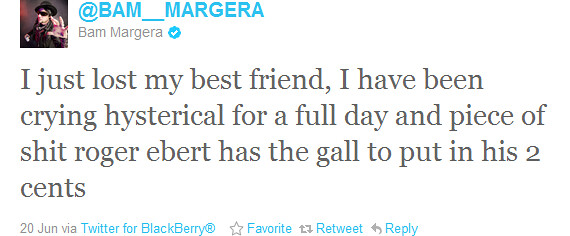 Bam Margera tweet