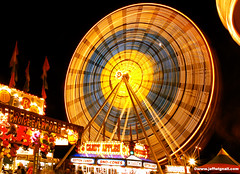 Ferris Wheel, Danbury, Connecticut (Jeff Wignall) Tags: nightphotography carnival summer abstract motion color night illumination nikond70s ferriswheel tripods danbury lightsinmotion timeexposures wignall longexposures lightwriting danburyfairmall danburyconnecticut exposurephotoworkshop