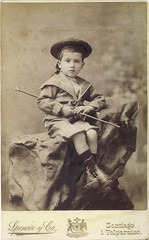 tag-card 27 (purpi_purp) Tags: boy bw vintage kid postcard posing 1900 reprint