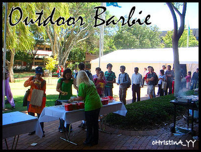 USQ Career Fair: Outdoor Barbie