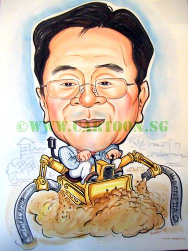 cartoon caricature. Caricature of construction