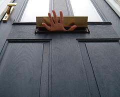 03/04/2008 (Day 2.94) - Letterbox (Kaptain Kobold) Tags: door uk blue selfportrait window alan mailbox shiny hand fingers thumb letterbox 365 brass selfie kaptainkobold fgr 365days yourfave day294 365thursday 365more 365year2 3650408 nothalfnekkidthisthursday