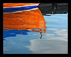 Riflettendo... (gabmic) Tags: lago barca acqua colori riflesso riflettere