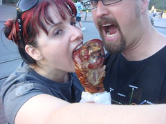 leeeegs...leeeegs... (kimncris) Tags: food disneyland turkeyleg checklist turkeylegs 52ofus