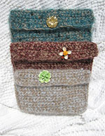 Crocheted Eyeglass Cases with Vintage Jewelry Accessories