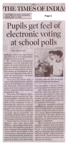 Times of India News Article