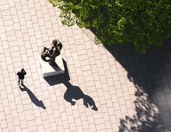 You are being watched! (:Linda:) Tags: above shadow sculpture man germany town thringen loneliness leute adult skulptur jena thuringia cobblestone below lonely schatten einsamkeit einsam mensch lonesome thuringian allein pflasterstein strase shadowsontheground cobbledstone gepflastert alleinsein erwachsener studentsong ergobibamus dreimenschen nonalivepeople dreileute menscheninjena jenaimfrhling peoplemadeofmetal