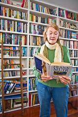 My mum in her library (digbyross) Tags: home mom library sydney mother australia books mum bookshelves june2008 cathaycameraclub mosmancameraclub