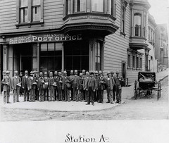 San Francisco, California, Post Office, Station A, 1895, Unknown photographer, Black and white photo