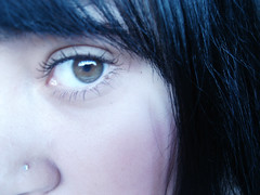 I'll be watching u (Thas;) Tags: blue people reflection eye me close naturallight piercing hazeleyes reflexo blackhair everybreathyoutake thasgraciano