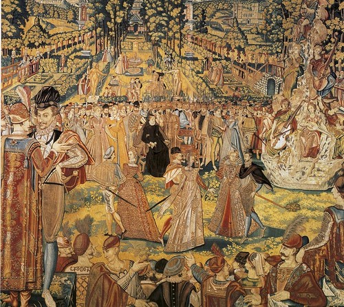 15-Valois_Tapestry-Tapestry depicting a ball held by Catherine de' Medici at the Tuileries Palace 1573
