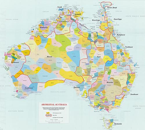 Carte australienne aborigene