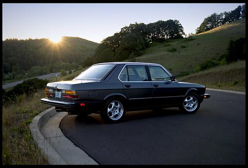 1985 BMW e28 535i Postcard