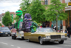 this kind of traffic is fine: the Neighborhood Day parade (by: Adam Fagen, creative commons license)