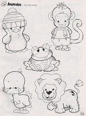 Baby animais (Lucia Helena Cesar) Tags: feltro desenhos figuras riscos moldes patchcolagem