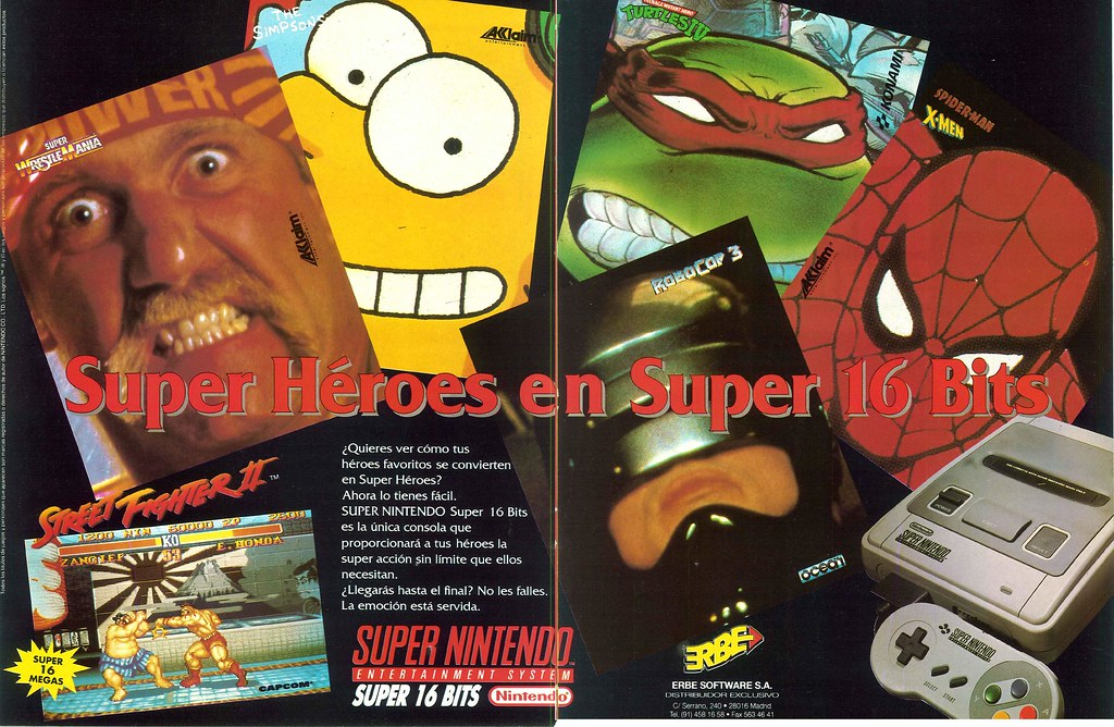 Superhéroes en Super Nintendo