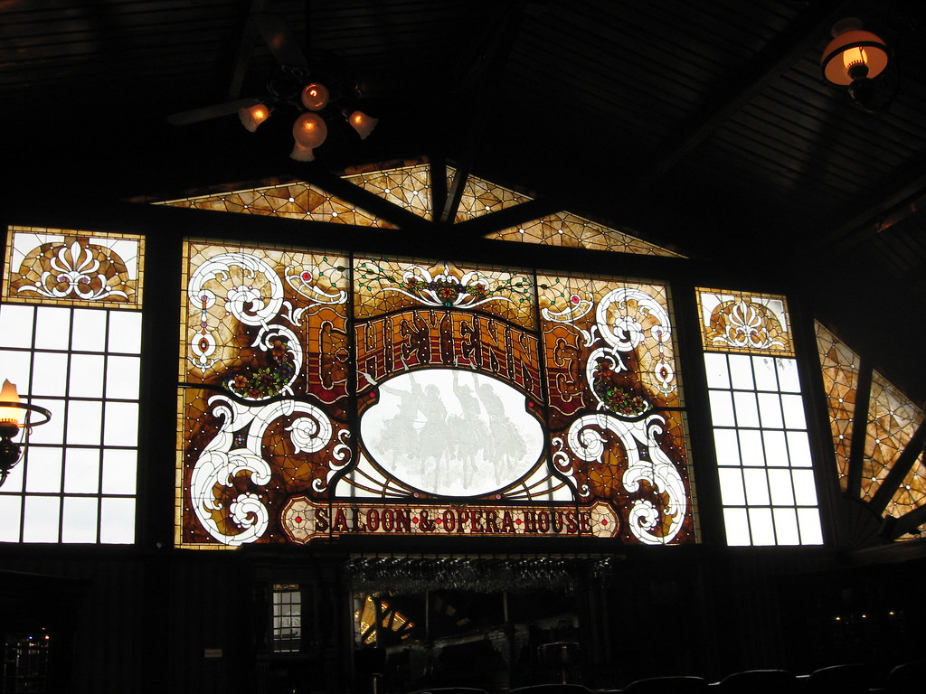 Cheyenne Saloon Stained Glass
