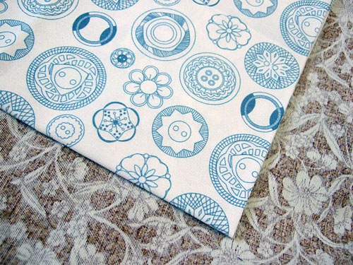 Button print fabric