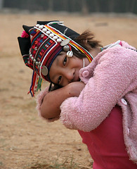 little Akha girl (janchan) Tags: hat children thailand asia bambini retrato documentary orphanage myanmar tribe ritratto reportage goldentriangle akha whitetaraproductions