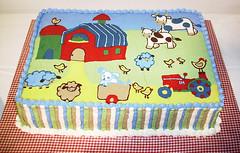 Moo Moo Baby Barnyard Baby Shower Cake