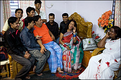 Laila Hijra and her gay friends - Bangladesh (Maciej Dakowicz) Tags: gay home asia phone interior transgender transvestite homosexual laila bangladesh gender guru transsexual hijra