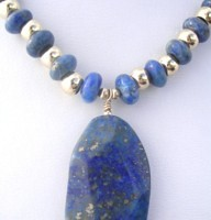 Brilliant blue lapis lazuli and gold fill give this necklace a feel of Ancient Egypt.