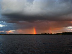 Brilliant Rainbows on Savant Lake, Ontario (christina.visions) Tags: beautiful rainbow 5photosaday almostanything catchycolorsall absolutelystunningscapes gnneniyisithebestofday travelon5photosaday savantlakeontario
