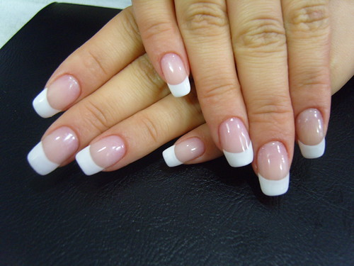 Simple White color transparent gel Nail Art gallery
