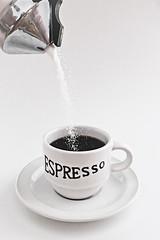 Would You Like Sugar With Your Espresso? (Felix Neiss) Tags: cup tasse coffee kaffee sugar espresso grains 2008 lightbox tabletop saucer zucker untertasse krner g9 zuckerstreuer strobist offcameralighting 1light neiss entfesseltesblitzen felixneiss