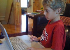 ben playing a game on the computer (alist) Tags: alist robison alicerobison 66214 benjaminrobison