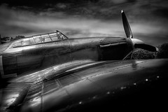 Hurricane b/w (Testchamber) Tags: blackandwhite aircraft aviation hurricane wing cockpit shuttleworth blackdiamond bwemotions blackwhitephotos artlegacy artinbw bwartaward