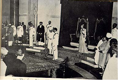 Nehru swears in PM of India