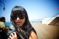Mystery (nathanielperales) Tags: blue sky sunglasses stairs hair geotagged pier santamonica bluesky aimee aimeepaguio santamonicaphotowalk asiangeotaggedsantamonicasantamonicaphotowalk