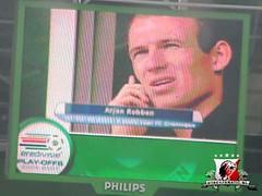 FC Groningen - FC Utrecht, Arjen Robben op videoscherm