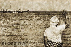 Nostalgia (Old Photo) (YOUSEF AL-OBAIDLY) Tags: old photo ship nostalgia kuwait goodbye  oldship  teacheryousef