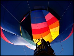 Reno Hot Air Balloon Race 2008 (Brooke Bettencourt-Berge) Tags: sky hot race fire flying colorful air nevada balloon floating flame reno 2008 intheair lighted