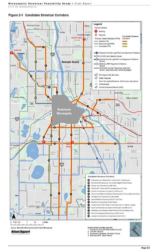 Minneapolis Planned Streetcar Network
