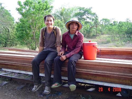 Kam - Battambang bamboo train 2 by you.