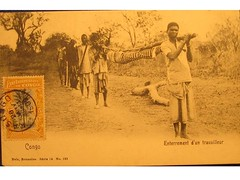 Antique postcard: Congo- Burial of a worker (Baltimore Bob) Tags: old death antique postcard funeral burial congo internment congofreestate