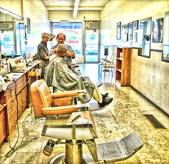 Peter & Larry, The Port Credit Barbers (marty_pinker) Tags: haircut ontario mississauga barbers portcredit supershot peterandlarry