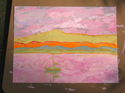 painting of Lake Champlain 9/22/08