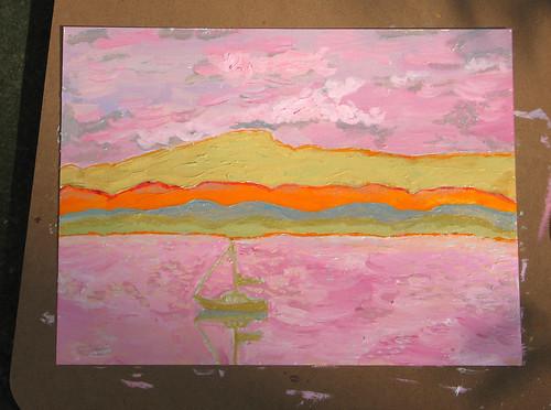 painting of Lake Champlain 9/22/08