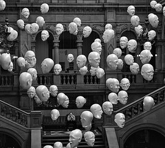 Exhibition at Kelvingrove Gallery, Glasgow (YYL Photography) Tags: uk people blackandwhite bw 6 white man black art 6x6 mamiya film blanco museum person scotland blackwhite gallery noir noiretblanc unitedkingdom britain glasgow negro rangefinder madness heads mad mamiya6 emotions notdigital bianco blanc nero kelvingrove biancoenero feelings schizophrenia bw400cn psychosis negroyblanco 150mm psychoses pychotic yylphotography