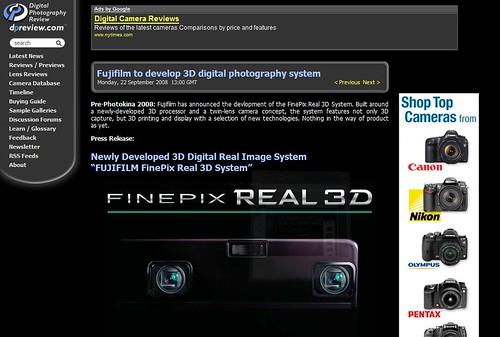 memo:FUJIFILM FinePix Real 3D System