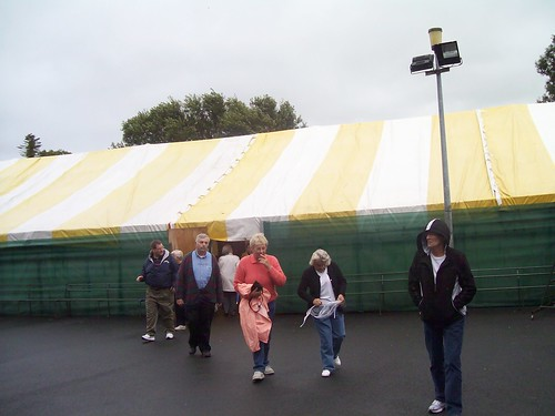 Ireland - Holy Cross Abbey  - mass in overflow tent