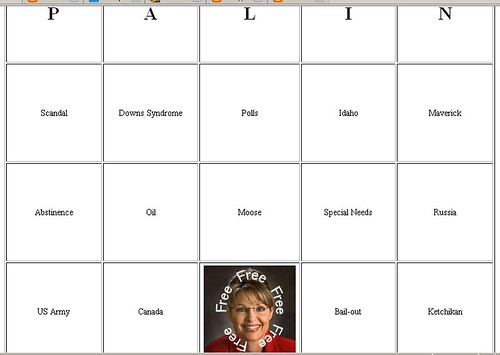 Palin Bingo